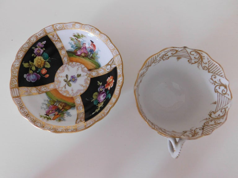 19th Century Meissen Porcelain Cup and Saucer, circa 1850 For Sale 2