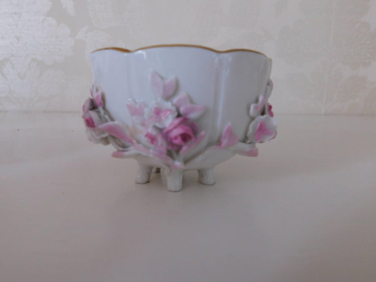 19th century Meissen Porcelain floral teacup and saucer