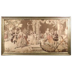 19th Century Antique French Victorian Tapestry