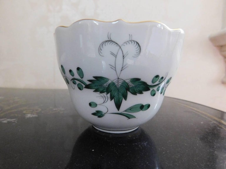 Meissen Green Dragon Demitasse Cup and Saucer For Sale 1