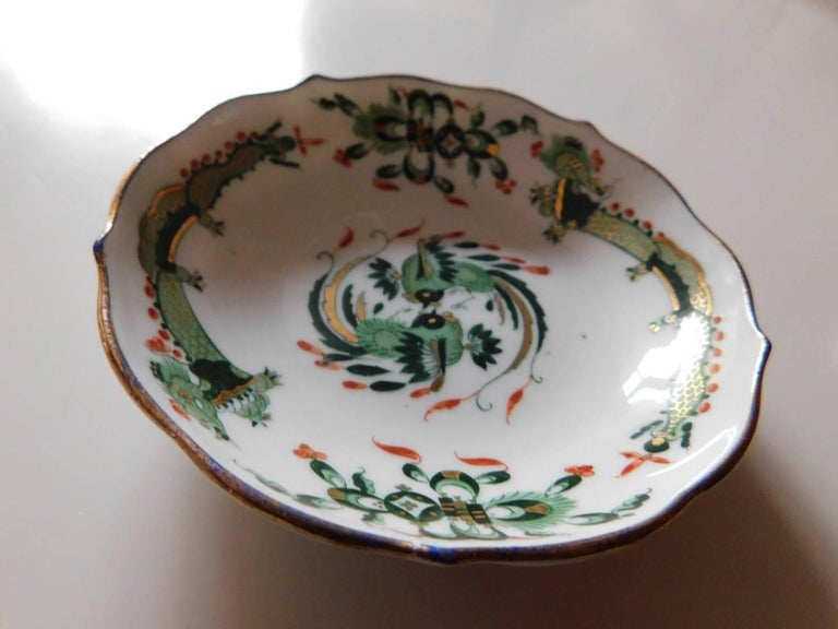 Meissen Porcelain Green Dragon Cup and Saucer For Sale 3