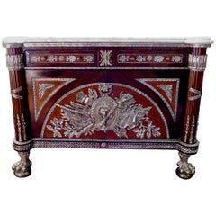 Revolution Commode Silver Plated with Marble Top