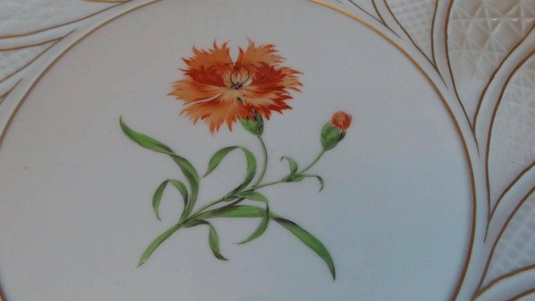 German 19th Century Antique Meissen Porcelain Plate For Sale