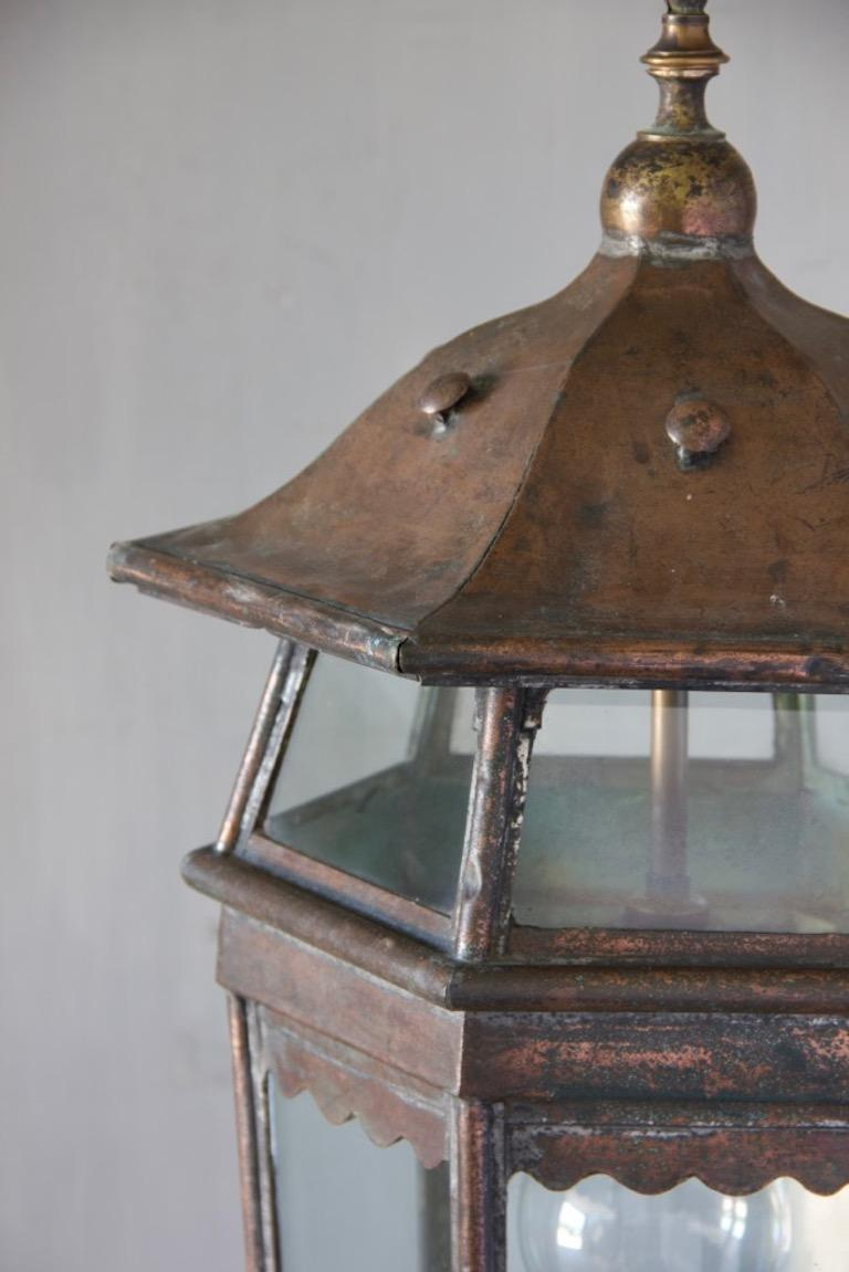 Arts & Crafts Hanging Lantern In Good Condition For Sale In Stamford, GB