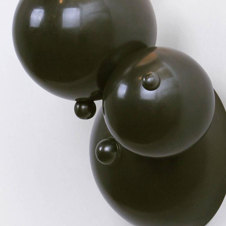 Patinated Bubbly 01-Light Wall, Modern Molecule Sculptural Sconce, Oil-Rubbed Bronze, Pair For Sale