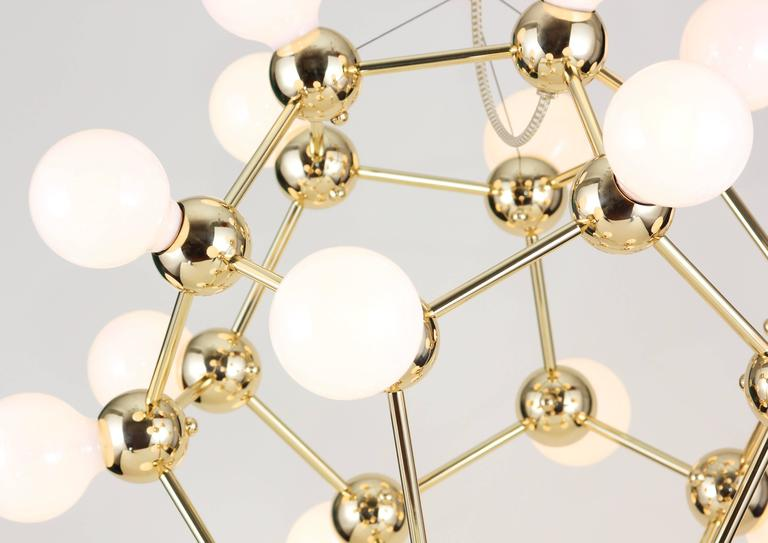 Lina 20 light sm chandelier geometric dodecahedron in for Dodecahedron light fixture