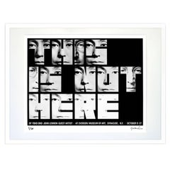 """This Is Not Here"" Signed Limited Edition Framed Print by Yoko Ono"