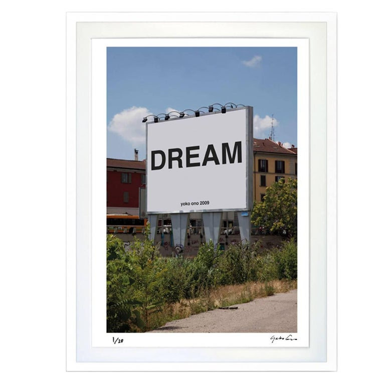 """""""Dream"""" Signed Limited Edition Framed Print, Yoko Ono For Sale"""