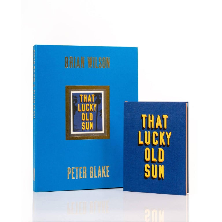 That Lucky Old Sun is a limited edition boxed set which consists; a handmade book, CD, facsimile music sheets, lyrics and a set of 12 original fine art prints signed by Brian Wilson and Sir Peter Blake. The fine art boxed set was inspired by the