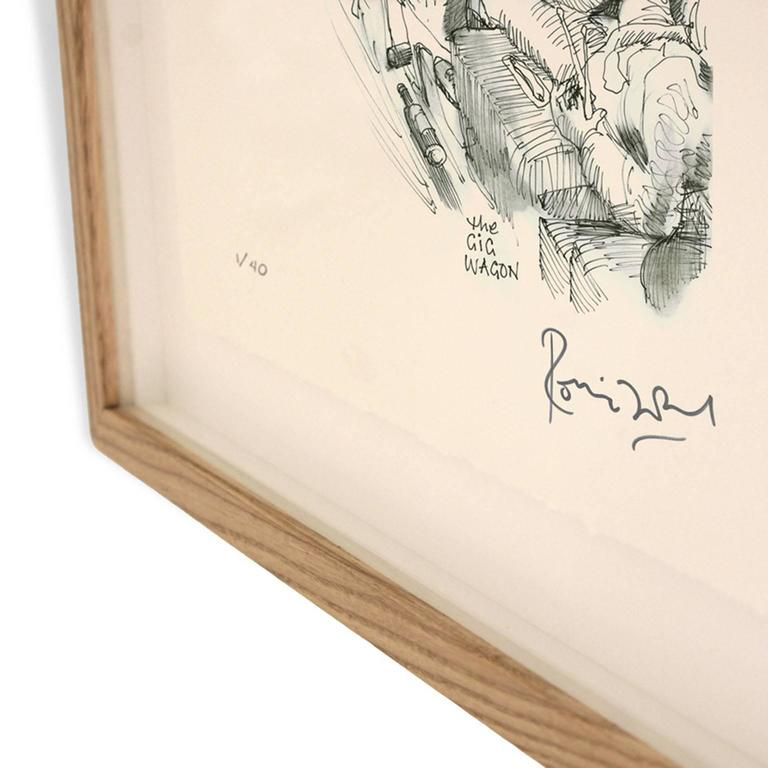 Ronnie Wood has created a series of new drawings inspired by the content of his recently discovered 1965 diary. Eight are available as individual signed artworks.  Ronnie Wood: 'I just closed my eyes, opened them, and drew what was photographically