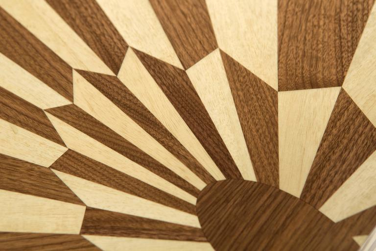 Tectonic Silence Side Table Cube in Wood Marquetry 4