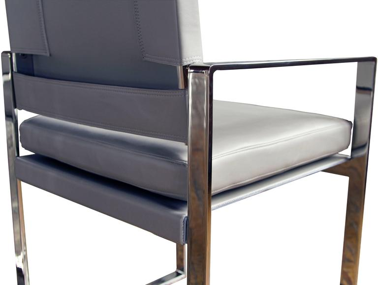 Maclaren Type 2 Dining Chair In Polished Stainless Steel
