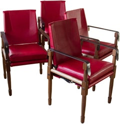 Chatwin Dining Chair, Walnut + Leather - handcrafted by Richard Wrightman Design