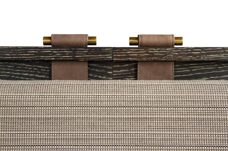 Marlton Bett mit gepolstertem Kopfteil, Lederriemen und Beistelltische 6