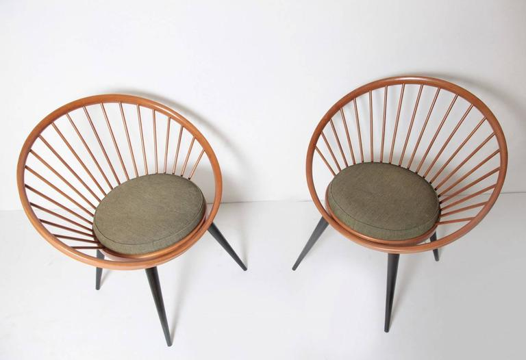 Mid Century Modern Circle Chair By Yngve Ekström For Swedese, Circa 1960  For Sale