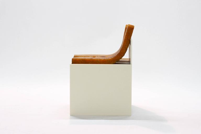 706 Chair - Modern Sculpture in Natural Rubber and Corian  5