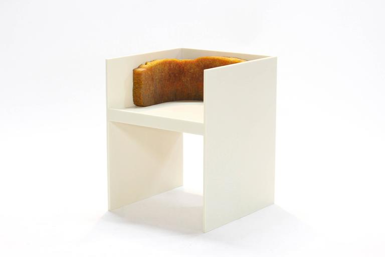 Post-Modern 707 Lounge Chair - Modern Sculpture in Natural Rubber and Corian  For Sale