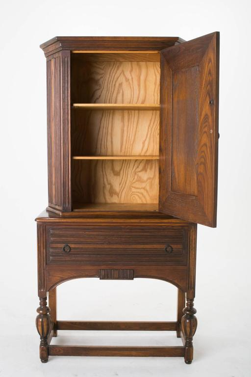 tall linen cabinet arts and crafts alamo oak armoire cabinet with linen 27030