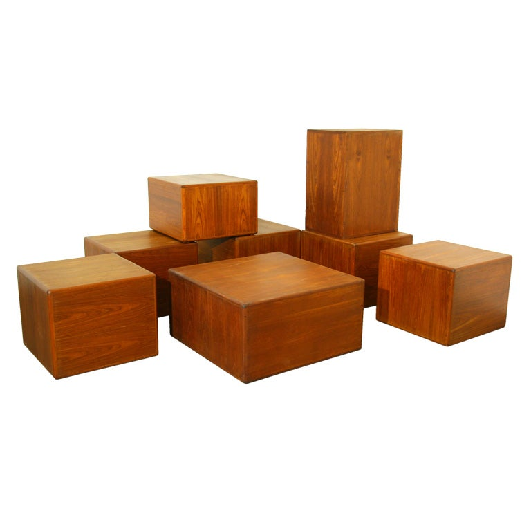 Sergio Rodrigues Exotic Wood Side Tables or Coffee Tables