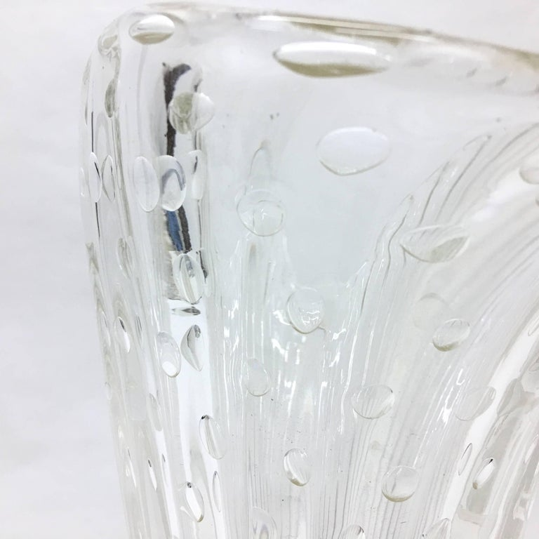 Hand-Crafted Barovier & Toso Mid-Century Modern Translucent and gold Murano Glass Vase 1970 For Sale