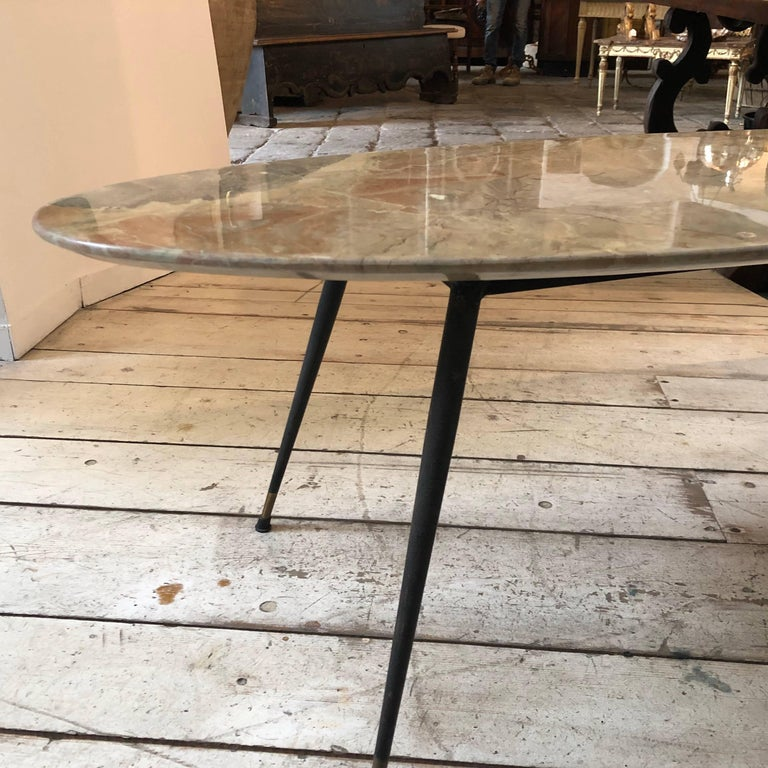 Mid-Century Modern Italian Marble Coffee Table by Elio Capitani For Sale 1