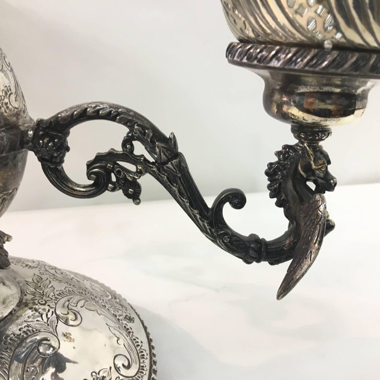 Late 19th Century English Victorian Epergne by Mappin & Webb, circa 1870 For Sale