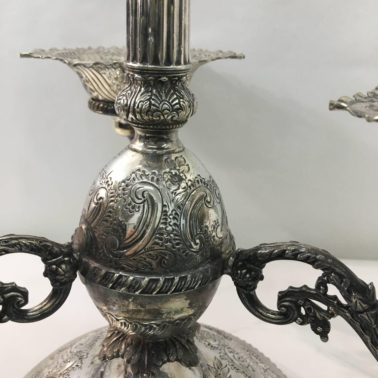 English Victorian Epergne by Mappin & Webb, circa 1870 For Sale 4