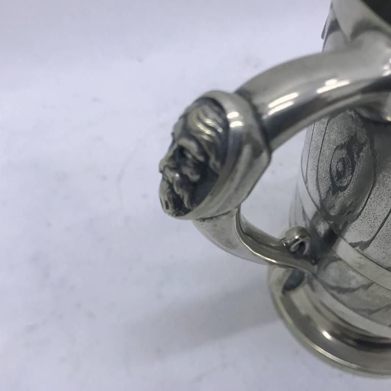 Late 19th Century Victorian Silver Plated English Mug, circa 1870 For Sale