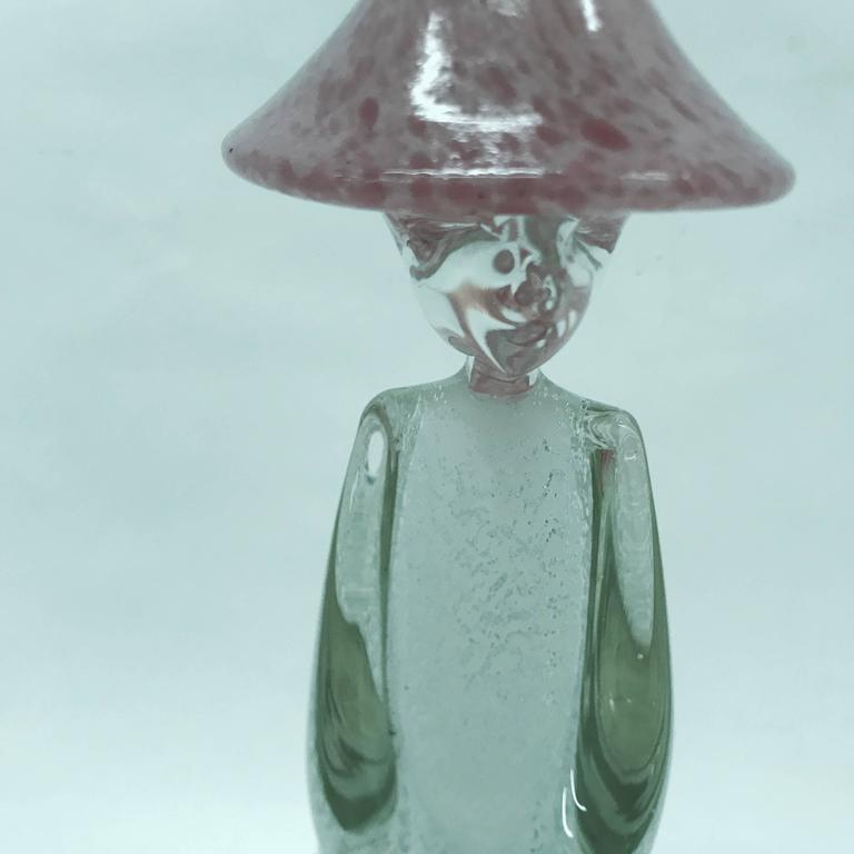 Murano Glass Chinese Man Figure , Italy circa 1970 For