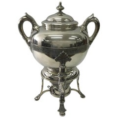 Tiffany & Co. Art Nouveau, Silver Plate Samovar