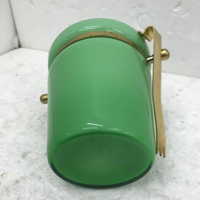 Italian Mid-Century Modern Opaline Ice Bucket For Sale 3