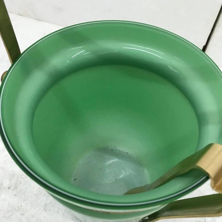 20th Century Italian Mid-Century Modern Opaline Ice Bucket For Sale