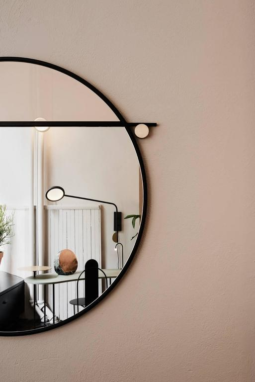 Abal Round Mirror by Studio Matter Made In Excellent Condition For Sale In New York, NY