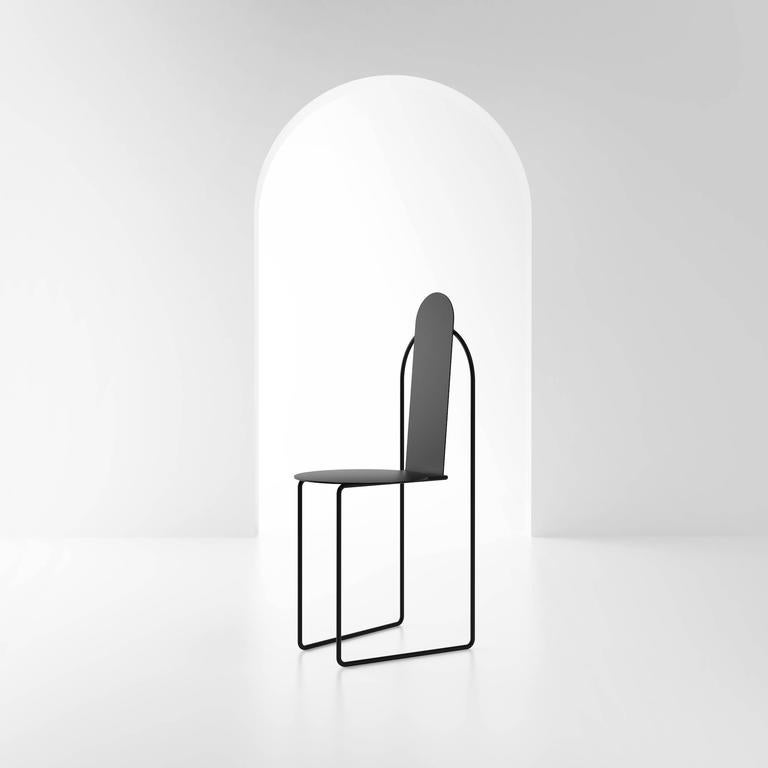 Powder-Coated Pudica Chair by Pedro Paulo Venzon For Sale
