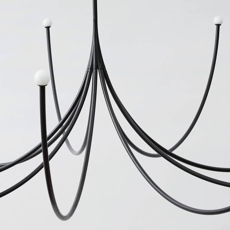 Blackened Arca Modular Chandelier by Philppe Malouin For Sale