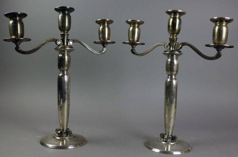 Pair of International Sterling Silver Danish Modern ... - photo#10