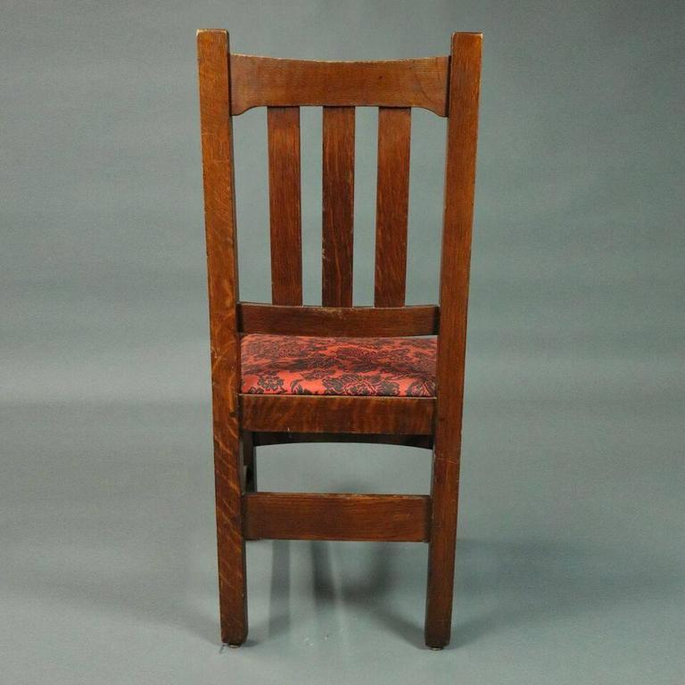 Antique Set Of Six Stickley Brothers Arts And Crafts