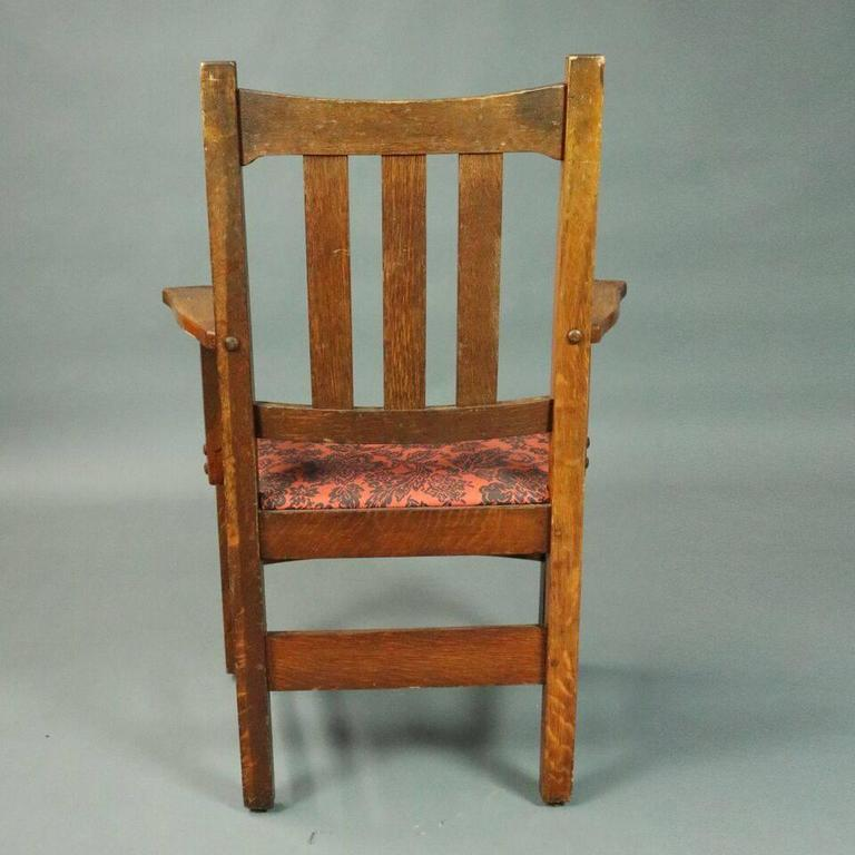 Antique Set of Six Stickley Brothers Arts u0026 Crafts Mission Oak Dining Chairs In Good Condition & Antique Set of Six Stickley Brothers Arts and Crafts Mission Oak ...