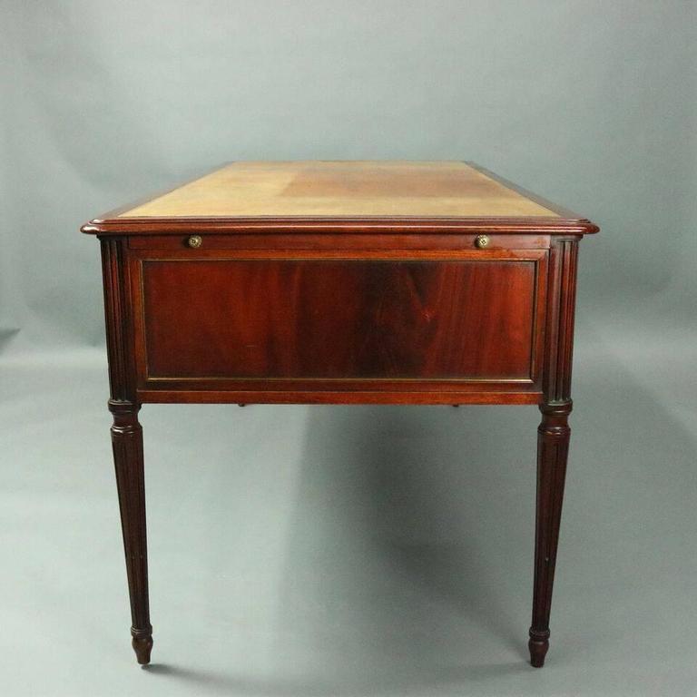 English Antique Writing Desks ~ Antique english sheraton mahogany and bronze writing desk