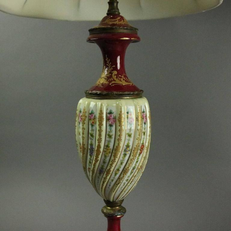 Pair Of Antique Hand-Painted And Gilt Porcelain With