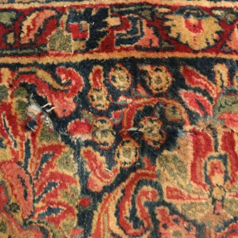 Antique Hand Knotted Persian Sarouk Carpet Circa 1930 At