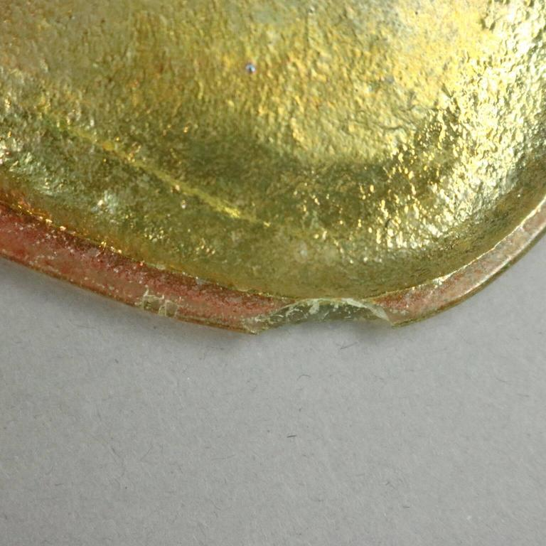 20th Century Tiffany, 15 Opaque Swirl Glass Prisms & Favrile Turtle Back Tile 4