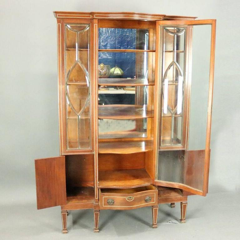 china cabinet for sale antique edwardian mahogany leaded glass china cabinet for 13548