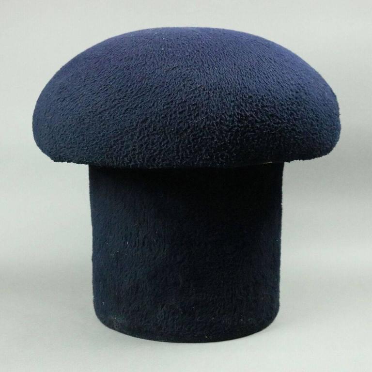 Mid Century Modern Upholstered Mushroom Sculptural