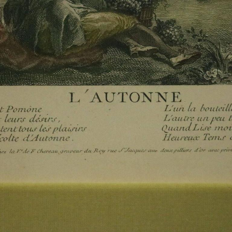 French Hand Tinted Print