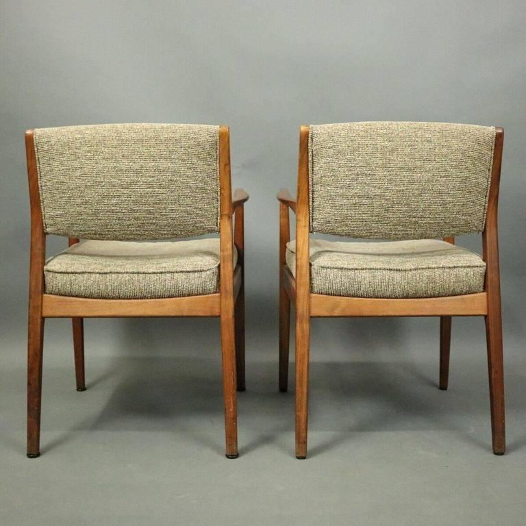 Mid Century Modern Pr Mid Century Danish Modern Upholstered Teak Armchairs  Roffman Associates C1960