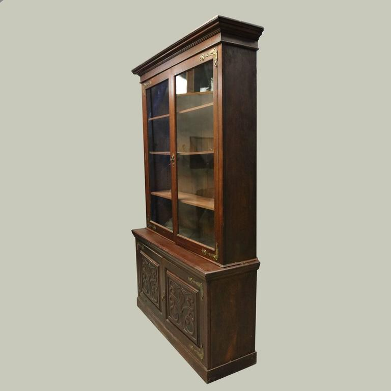Antique art nouveau tree of life mahogany and bronze two for Tree of life bookshelf