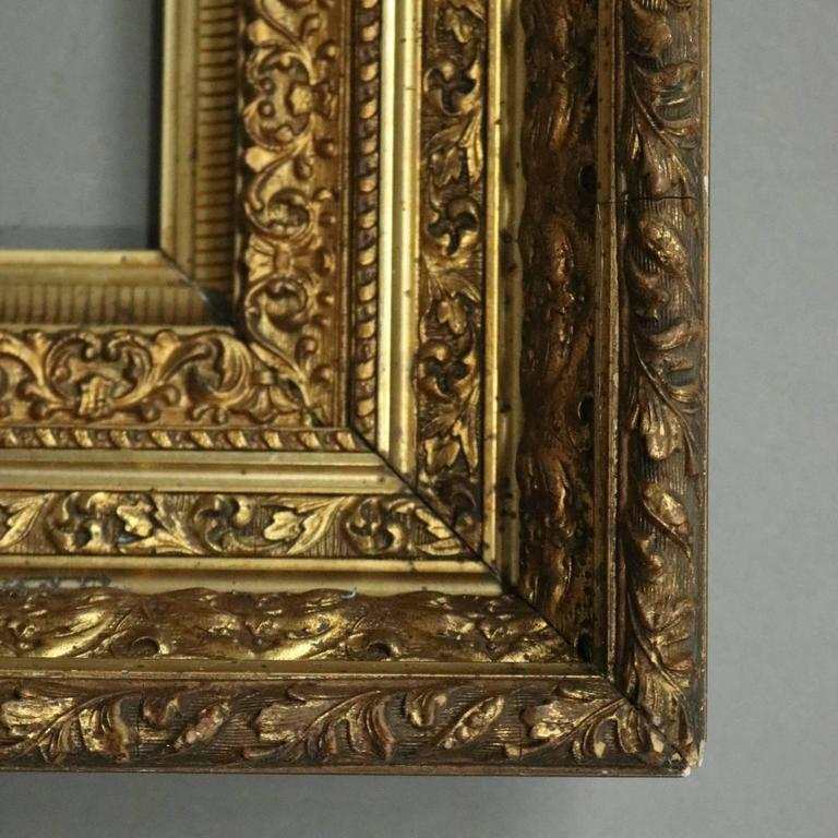 Antique gilt gesso fine art frame acanthus and foliate for Acanthus decoration