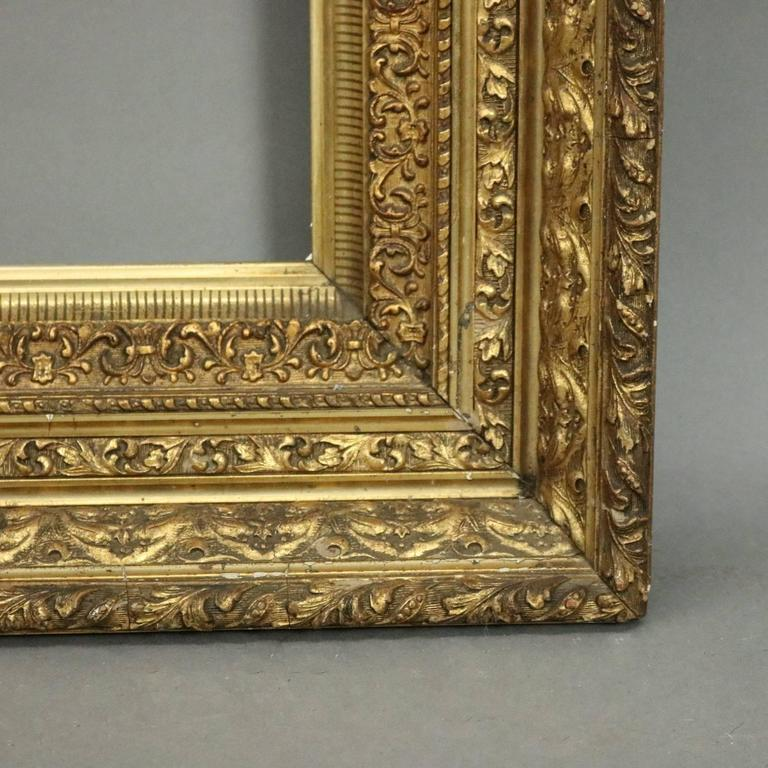 Antique gilt gesso fine art frame acanthus and foliate for Acanthus decoration