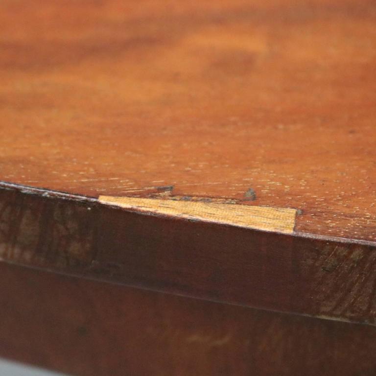 Antique Classical Empire Mahogany Tilt Top Dining Table